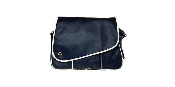 Tmavo modrá prebaľovacia taška Tuc Tuc s bielym lemom