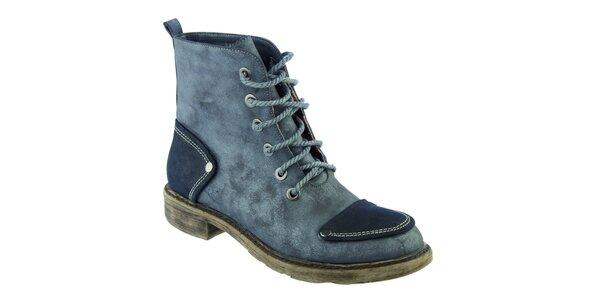 Dámske modré šnurovacie topánky Betsy