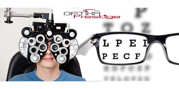 Meranie ostrosti zraku alebo aplikácia kontaktných šošoviek