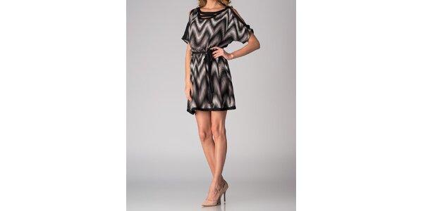 Dámske čierno-biele vzorované šaty Soap Art