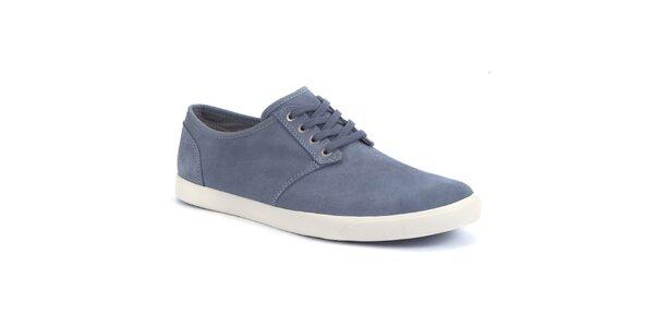 Pánske modré semišové topánky Clarks