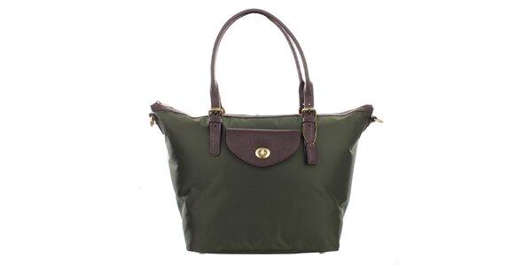 Dámska zelená kabelka s hnedými ušami Clarks