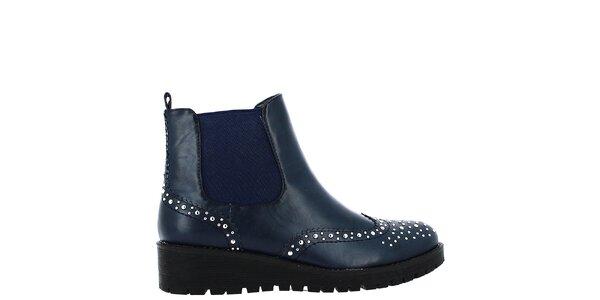 Dámske tmavo modré topánky s cvokmi Shoes and the City