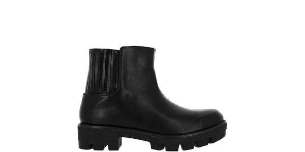 Dámske čierne členkové topánky Vanessa Wu