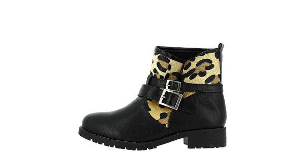 Dámske členkové topánky s leopardím vzorom Shoes and the City