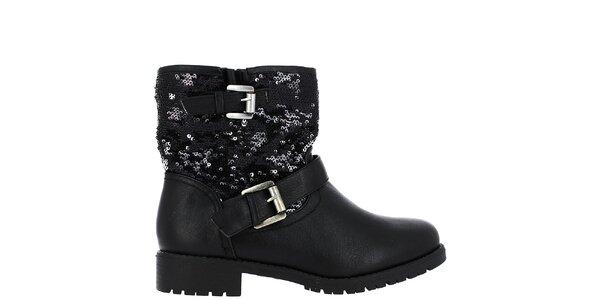 Dámske čierne topánky s flitrami Shoes and the City