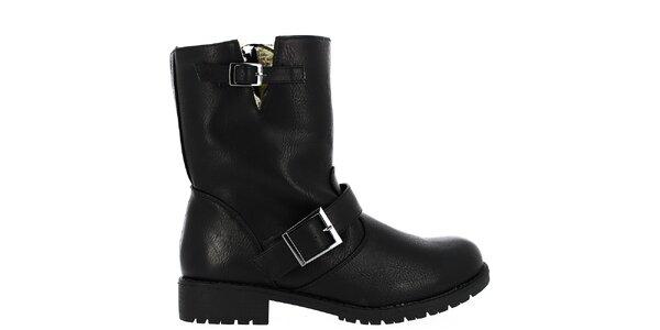 Dámske čierne topánky s kožúškom Shoes and the City