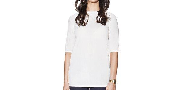 Dámske biele predĺžené tričko Joana and Paola