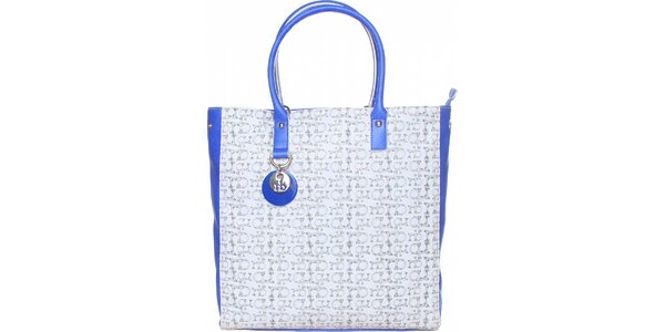 Dámska bielo-modrá kabelka Roccobarocco