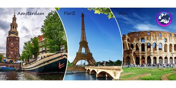 4 dni v Amsterdame, Paríži či Ríme