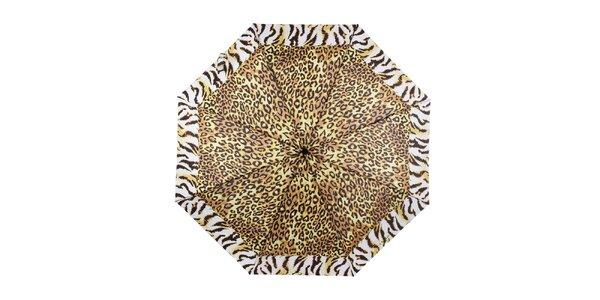 Dámsky skladací dáždnik so zvieracím vzorom Ferré Milano