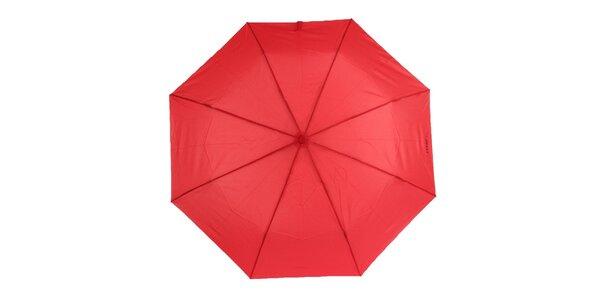 Dámsky červený vystreľovací dáždnik Ferré Milano