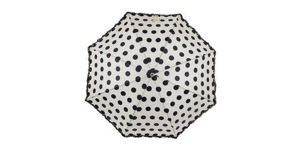 Dámsky biely dáždnik s bodkami Ferré Milano