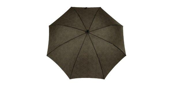 Pánsky dáždnik s čiernym logom Ferré Milano