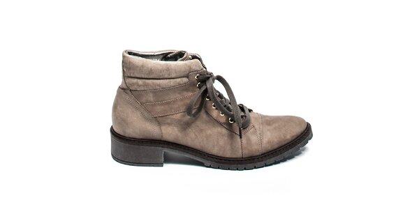 Členkové topánky so šnurovaním Moda Italiana