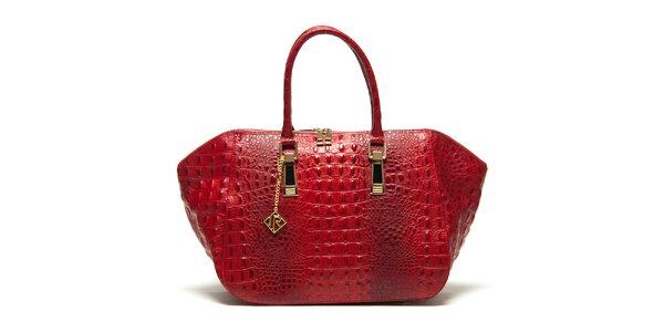 Dámska červená kabelka s plastickým vzorom Isabella Rhea