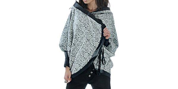 Dámske vzorované pončo s kapucňou Female Fashion