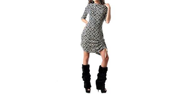 Dámske kockované šaty Female Fashion