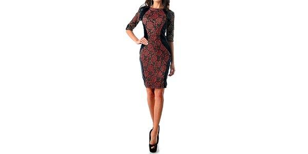 Dámske šaty s červenými ružami Female Fashion