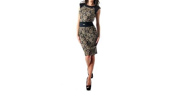 Dámske prešívané šaty bez rukávov s ružami Female Fashion