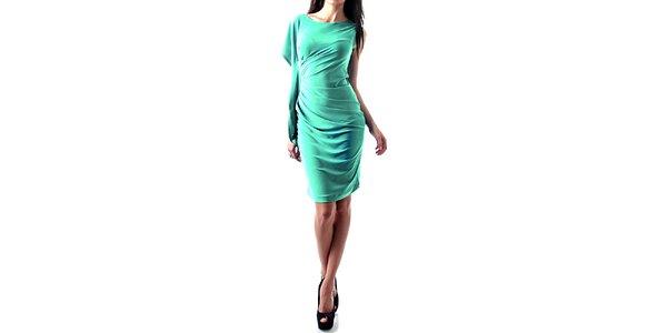 Dámske svetlo modré nariasené šaty Female Fashion