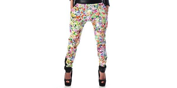 Dámske kvetinové háremové nohavice Female Fashion