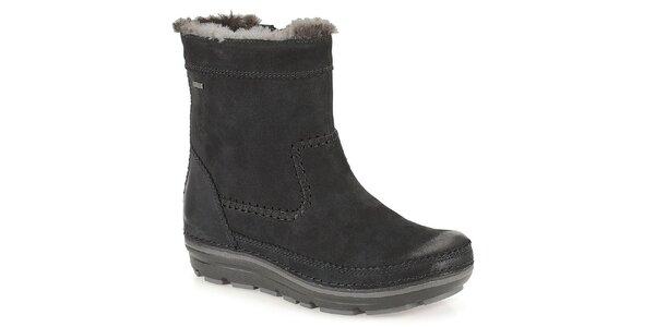 Dámske čierne zateplené zimné topánky Clarks