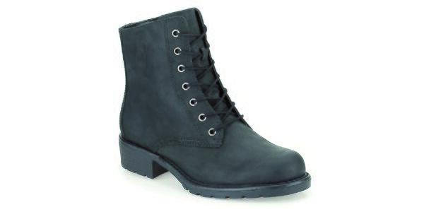Dámske čierne členkové topánky so zaväzovaním Clarks