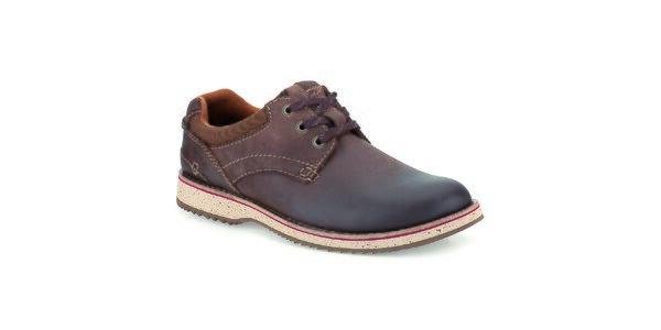 Pánske tmavo hnedé kožené topánky Clarks