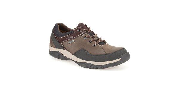Pánske hnedé vodotesné topánky Clarks