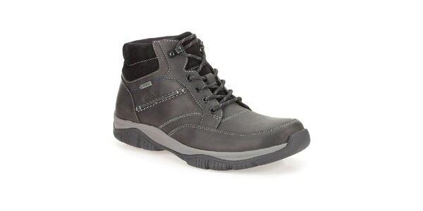 Pánske kožené členkové topánky Clarks