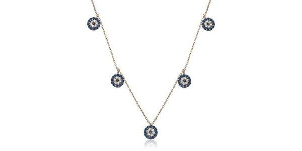 Dámsky strieborný náhrdelník s okrúhlymi príveskami Elite Goby