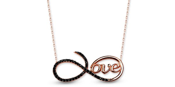 Dámsky strieborný náhrdelník s nápisom love Elite Goby