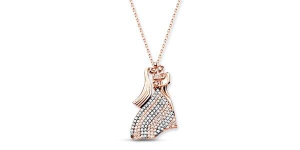 Dámsky strieborný náhrdelník s milencami Elite Goby