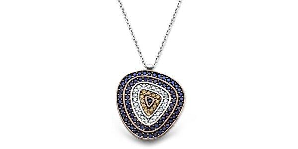 Dámsky strieborný náhrdelník s farebným príveskom Elite Goby