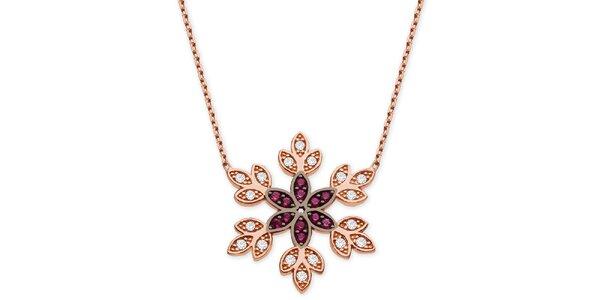 Dámsky náhrdelník s ozdobným kvetinovým príveskom Elite Goby