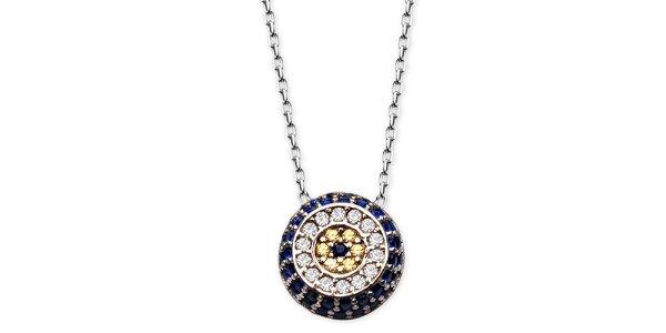 Dámsky náhrdelník s farebným guľatým príveskom Elite Goby