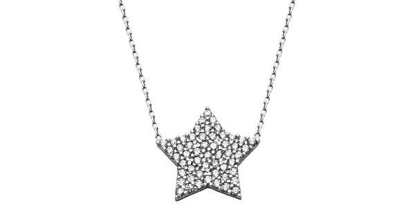 Dámsky náhrdelník s hviezdičkou a zirkónmi Elite Goby