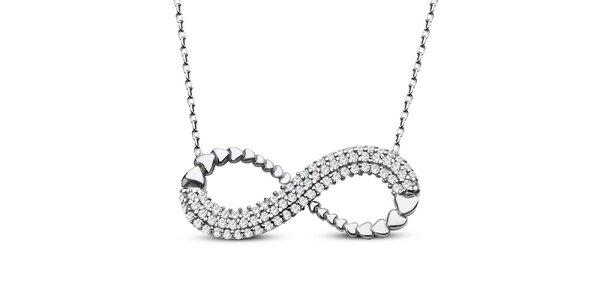 Dámsky náhrdelník s príveskom a zirkónmi v striebornom tóne Elite Goby