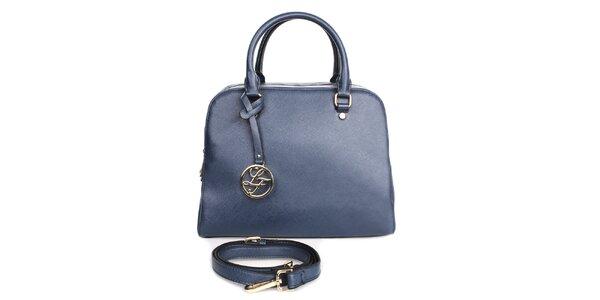 Dámska modrá kabelka s príveskom London fashion
