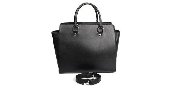 Dámska čierna kabelka s vnútorným vreckom London fashion