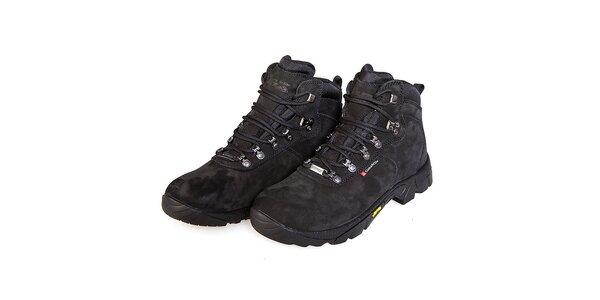 Dámske čierne vysoké celokožené trekingové topánky F7 Arizona III .
