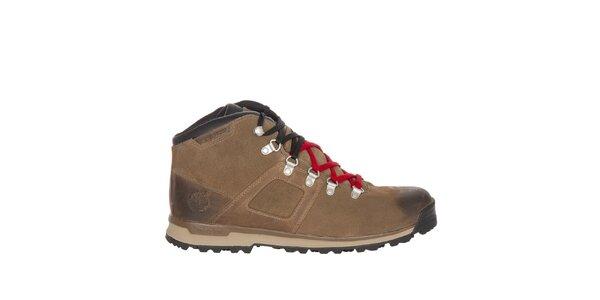 Pánske svetlo hnedé vodeodolné topánky Timberland