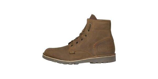 Pánske svetlo hnedé vysoké topánky Buggy
