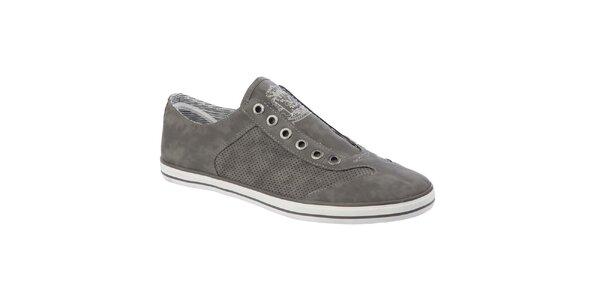 Pánske šedé topánky Keddo