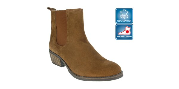 Dámske hnedé členkové topánky Beppi