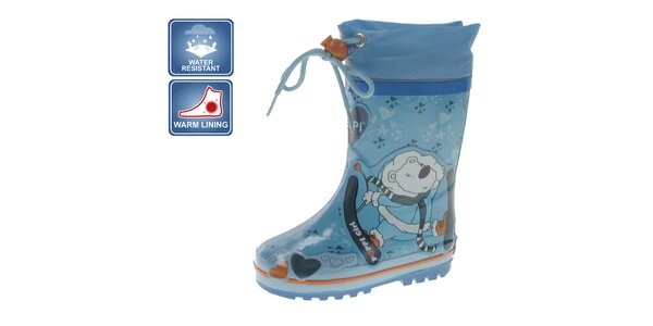 Detské modré topánky s medvedíkom Beppi