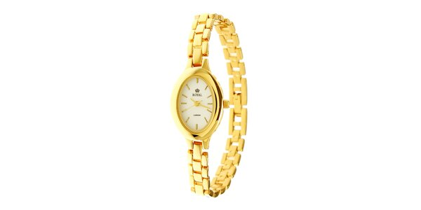 Dámske zlaté oceľové hodinky Royal London