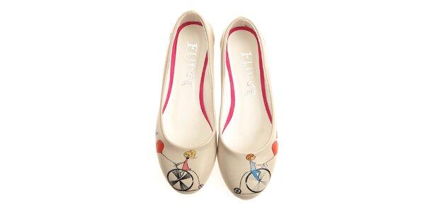Dámske balerínky so zamilovanými cyklistami Elite Goby