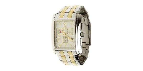 Pánske oceľové hodinky Royal London so zlatými detailami